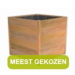 Hardhouten plantenbak van Bankirai hout koop je op Houtenplantenbak.nl